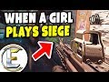 When A Girl Joins The Game - Rainbow Six Siege (The Girls In This Game Are Pretty Good)