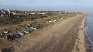 Pakefield Beach is Suffolk - aerial video from a drone