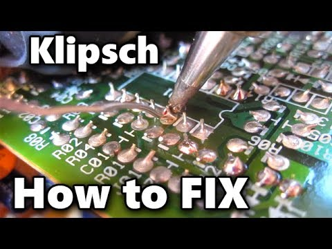 Klipsch REPAIR Computer Speakers 2.1 Pro Media Fix Broken Amp Solder on