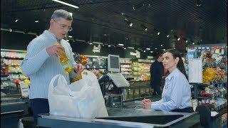Типичный мужик в супермаркете