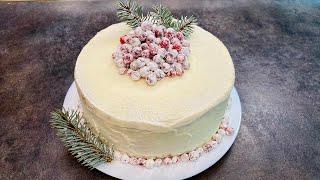 ТОРТ ЗИМНЯЯ СКАЗКА Очень Вкусный Домашний Тортик Простой Рецепт