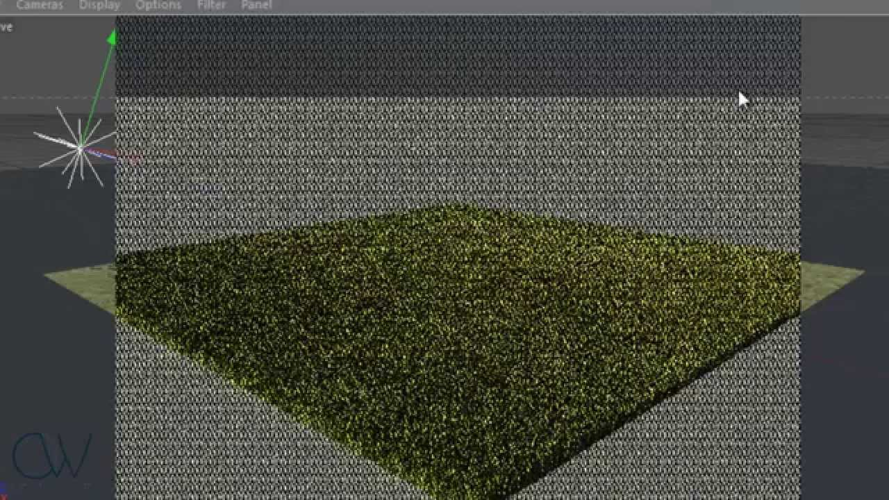 How to make Grass in Cinema 4D R13 with Vray