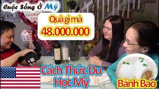 ❀//Vlog 89// Làm Bánh Bao - Món Quà Ý Nghĩa Dành Tặng Cho Hương, Chia Sẻ Cách Đi Du Học Mỹ