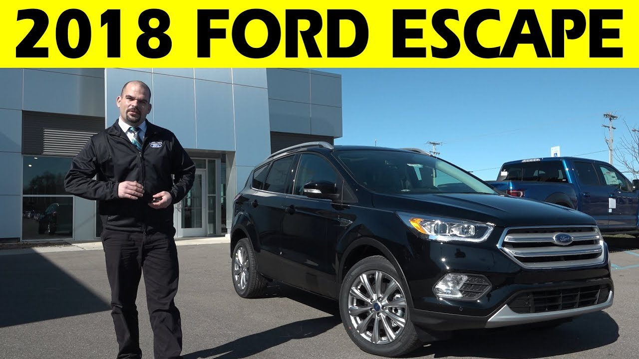 2018 Ford Escape Exterior Interior Walkaround