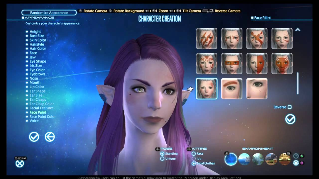 FINAL FANTASY XIV: A Realm Reborn Elezen female character creation