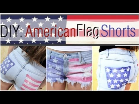 How To: DIY American Flag Shorts