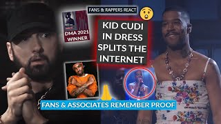 Eminem MTBMB Wins DMA, Kid Cudi Splits The Internet w/ Dress On SNL, Fans Remember Proof From D12