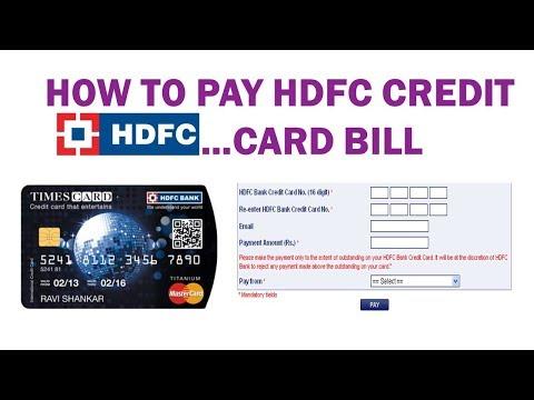 HDFC CREDIT CARD BILL PAYMENT