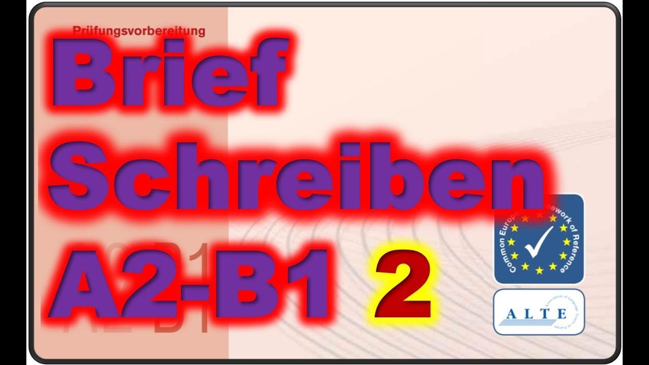 Brief Schreiben A2 B1 02032019 Youtube