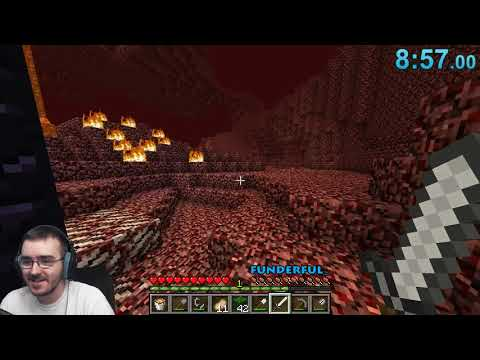 Minecraft / Any% Random Seed Glitchless Speedrun / PB of 52:08!