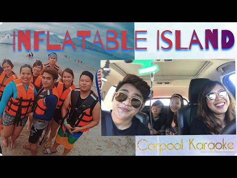 Inflatable Island plus Carpool Karaoke 😂❤️
