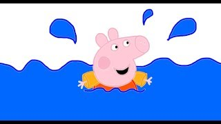 Itsy Artist - How To Draw Peppa Pig Swimming From Peppa Pig Episodes