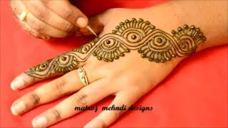 Latest Easy Mehndi Designs For Hands-Simple New Henna Designs 2018-Mehndi Designs