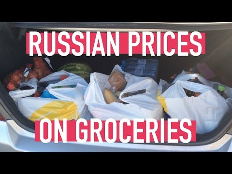 PRICES ON GROCERIES IN RUSSIA