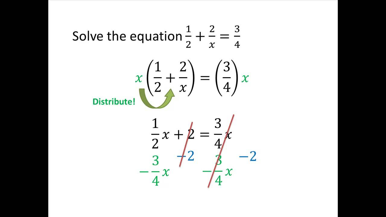 College Algebra Example: Linear Equations with Fractions - YouTube