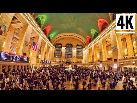 ⁴ᴷ⁶⁰ Grand Central Terminal New York City Walking Tour 2019 | The Busiest Train Station In NYC