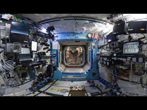 ISS interior VR 360 with real ambient sounds; Very Relaxing!