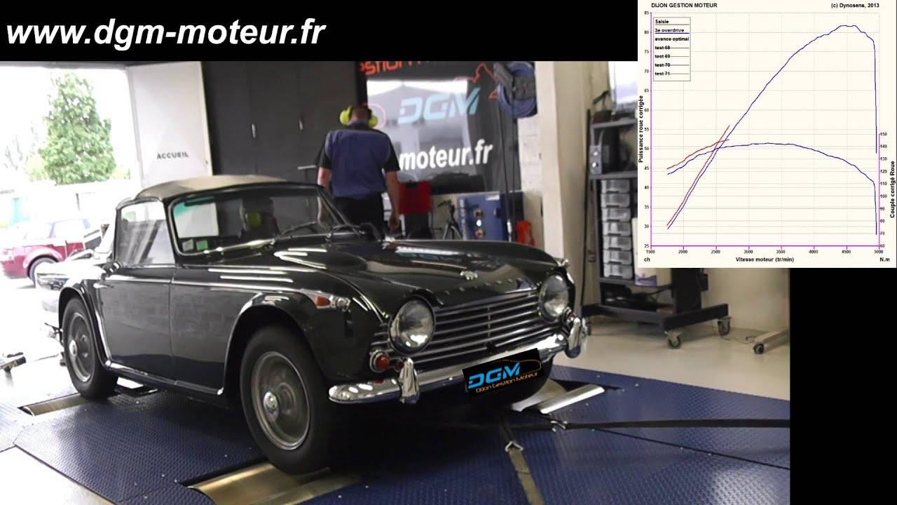 Triumph Tr4 A Dijon Gestion Moteur Youtube