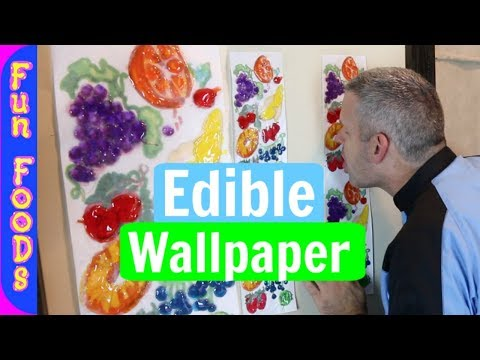 Lickable Wallpaper | How to Make Edible Wallpaper from Willy Wonka and the Chocolate Factory