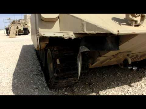 Israeli Achzarit a Heavy Armoured Personnel Carrier. A modified captured T-55 Tank without Turret.