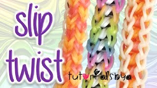 NEW Slip Twist Rainbow Loom Bracelet Tutorial | How To Thumbnail