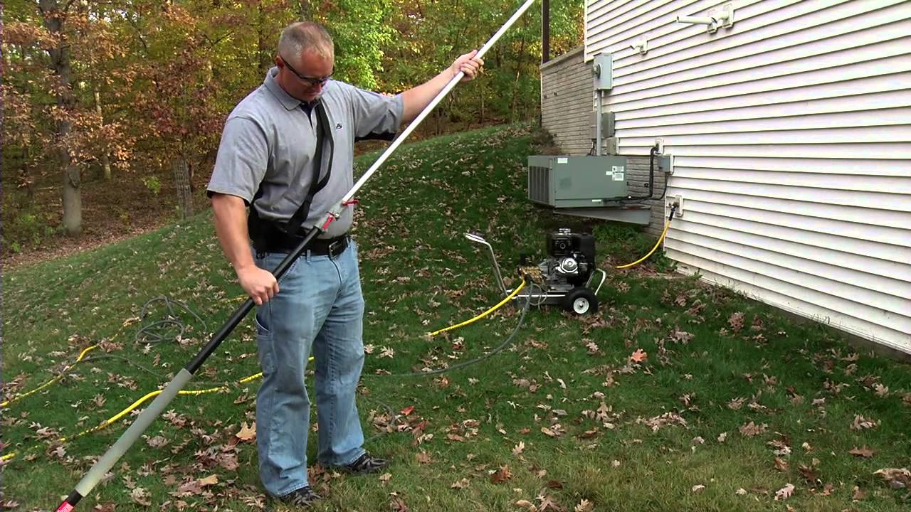 Mi T M Pressure Washer Extension Wand Demonstration Youtube