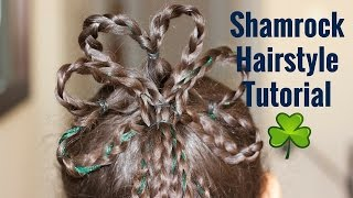 Shamrock Hairstyle on Curly Biracial Hair