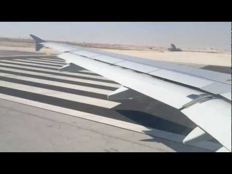 Saudi Airlines A320 Taxi and Takeoff from king fahd airport