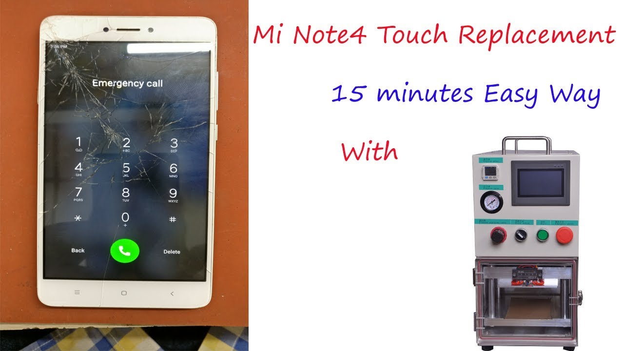 Mi Note 4 Touch Glass Replacement Easy Way