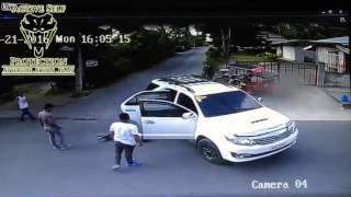 Gunfight Erupts Around Car Full of Innocent People