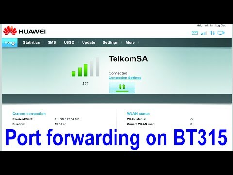 How to setup port forwarding and DDNS on Huawei B315 router