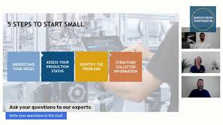 How to be successful with data driven manufacturing