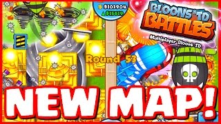 Bloons TD Battles - NEW MAP INTERCHANGE - INSANE LATE GAME BATTLES! - BTD Battles 8 Temples!