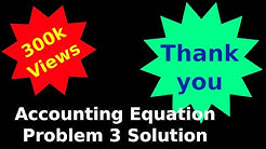 Recording Of Transactions – I - Accounting Equation Solutions - Problem 3 - Solution