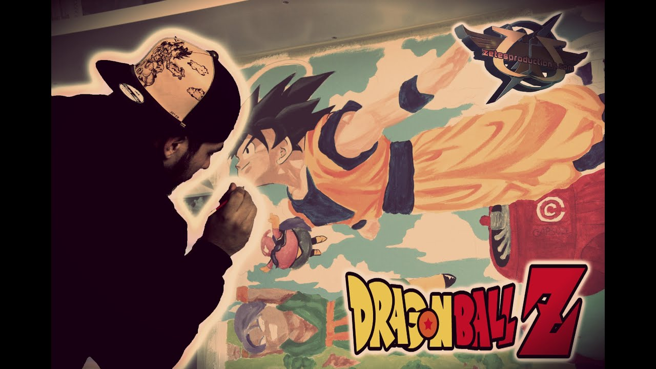 Painting dragon ball z room youtube for Chambre dragon ball z