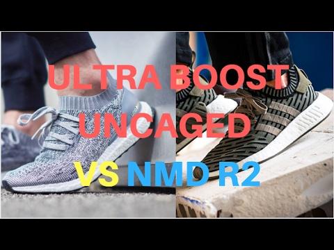 Ultra Boost Uncaged vs NMD R2 Comparison