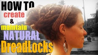 How I Care for My Dreadlocks | Minimalist, Natural Care (Palm Rolling, Washing, Crocheting)