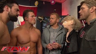 The Miz interrupts a reunion between Edge and John Cena: Raw, December 29, 2014