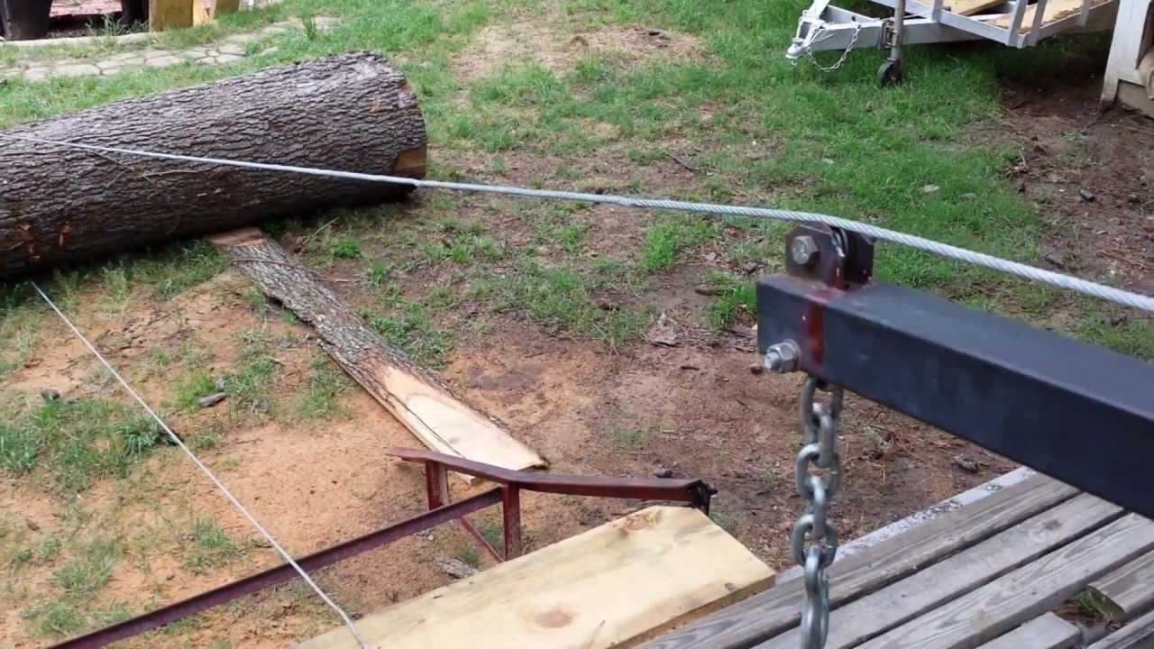 how to put a tree on sawmill