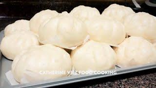 Cách làm bánh bao trắng mịn tại nhà nhân tôm thịt Vietnamese version