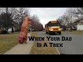 Pranking Our Kids With A Giant Blow Up T-Rex Costume