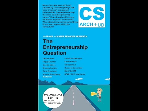 The Entrepreneurship Question