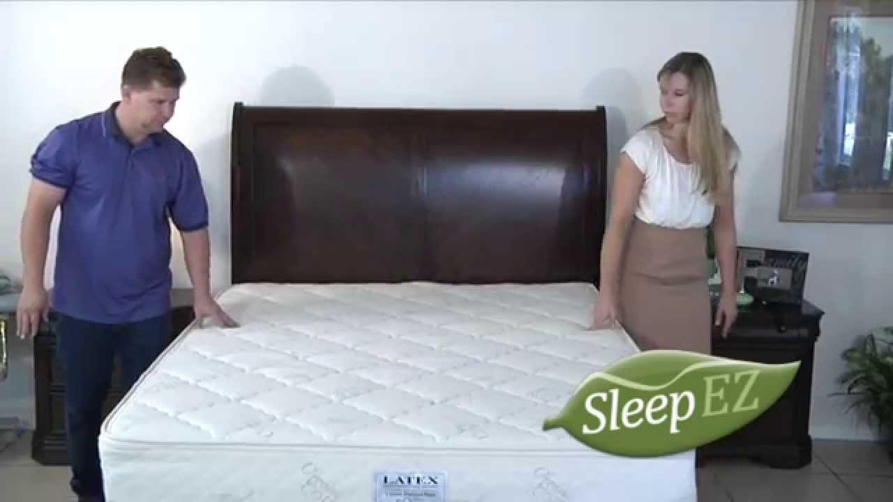Latex Mattress From Sleep Ez Youtube