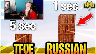 THIS RUSSIAN IS THE FASTEST BUILDER IN FORTNITE! *10K DPI?* | Fortnite Funny Moments and Highlights
