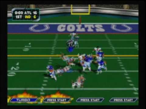 NFL Blitz 2000 - Falcons vs Colts (1st Half)