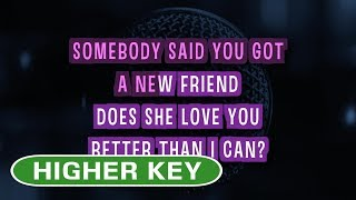 Dancing On My Own - Calum Scott | Karaoke Higher Key