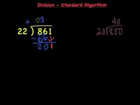Standard Algorithm Division