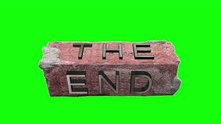 Green Screen Overlays THE END Футаж