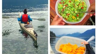 What I Ate On My Fully Raw Kayak Trip + Calories | 40BelowFruity