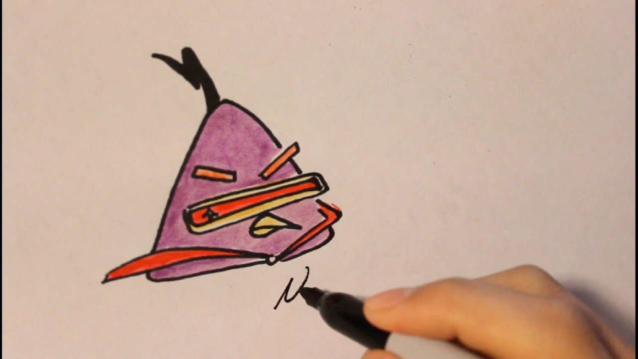 How To Draw Lazer Bird From Angry Birds Space